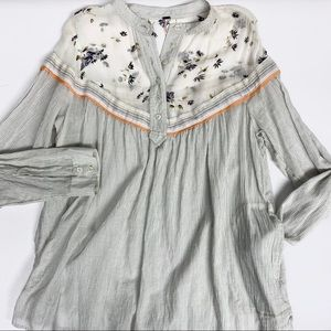 Free People Hearts and Colors Striped Top, size S